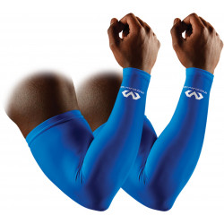 manchons compression bras handball bleu