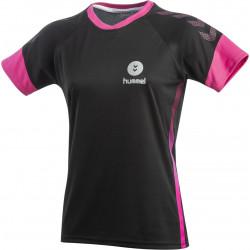 maillot hummel femme noir rose gris