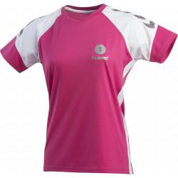 maillot hummel femme rose blanc gris