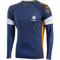 maillot hummel gardien bleu orange blanc