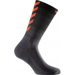 chaussettes hummel noir rouge
