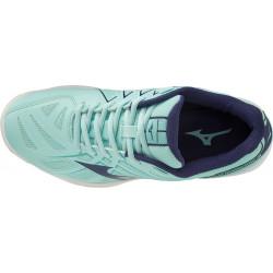 mizuno wave hurricane 3 vert bleu blanc