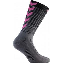 chaussettes hummel gradient rose noir