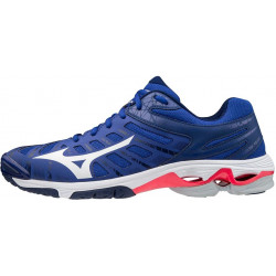Mizuno Wave Voltage Bleu Blanc Rose