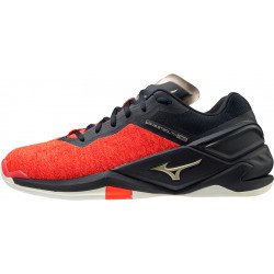 Mizuno Wave Stealth Neo Rouge Noir Or
