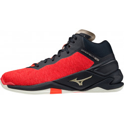 Mizuno Wave Stealth Neo Mid Noir Rouge Or