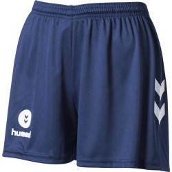 Short Femme Hummel Campaign bleu blanc